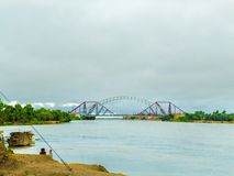 Lansdowne bro Sukkur - ett mästerverk arkivbild