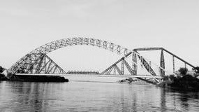 Lansdowne bro Sukkur Sindh Pakistan royaltyfria bilder