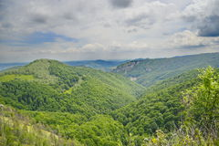 Lansdsape with valley and mountains Royalty Free Stock Images