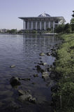 Lansdscape della moschea di Putrajaya Fotografia Stock