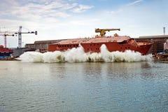 lanserande ship Royaltyfria Foton