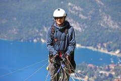 Lanserande vinge för Paraglider Fotografering för Bildbyråer