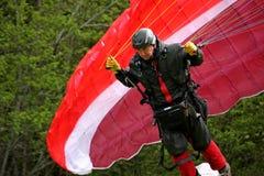 Lanserande vinge för Paraglider Arkivfoto