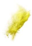 Lanserat färgrikt pulver som isoleras på vit Fotografering för Bildbyråer