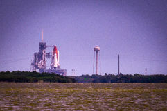 Lansering av Atlantis-STS-135 Royaltyfri Foto