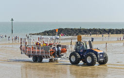 Lansering av livräddningsbåten Royaltyfria Bilder