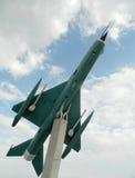 Lansiär för MiG 21 ut ur kommissionen som används som en garnering, nära Cluj, Royaltyfria Bilder