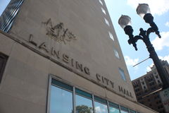 Lansing City Hall Image stock