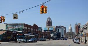 Lansing-Kapitol und im Stadtzentrum gelegenes lizenzfreies stockfoto