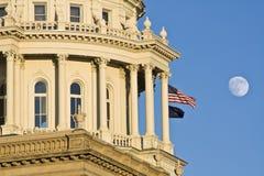 Lansing, Michigan - het Capitool van de Staat stock afbeelding