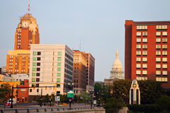 Lansing, Michigan at sunrise Royalty Free Stock Photo