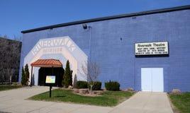 Lansing Riverwalk teater Arkivfoto