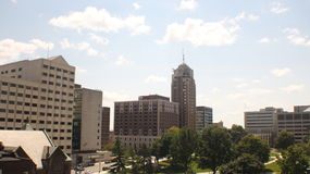 Lansing Skyline. A view of the Anderson office building, the Romney building, Boji Tower, the Senate building, and the State Capitol stock image