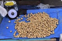 Lansium domesticum langsat fruit in the market stock photos