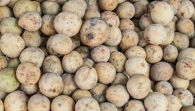 Lansium parasiticum在市场上 库存照片