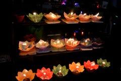 Lantaarn als een lotusbloem wordt gevormd die Stock Fotografie