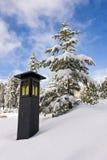 Lantaarn in de Sneeuw royalty-vrije stock afbeelding