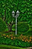 Lantaarn in de Tuinen Stock Afbeelding