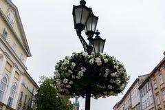 Lantaarn in het stadscentrum Stock Afbeeldingen