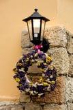 Lantaarn met bloemen Stock Foto's