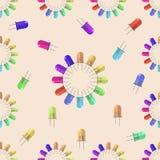 Lantaarn naadloos patroon voor uw ontwerp, vectorillustratie Stock Fotografie