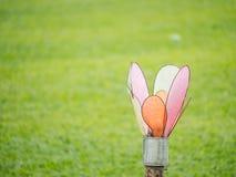 Lantaarn op het gras Royalty-vrije Stock Foto