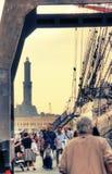 Lantaarn van de haven van Genua Royalty-vrije Stock Fotografie