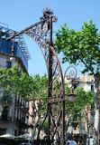 Lantaarn van straat Gracia Stock Afbeeldingen