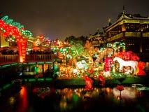 Lantaarnfestival in het Chinese Nieuwjaar. 16 februari, 2014 Royalty-vrije Stock Foto's