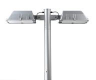 Lantaarnpaal met twee lampen stock foto