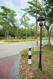 Lantaarnpaal op de straat Royalty-vrije Stock Afbeelding