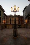 Lantaarnpaal in vierkant Royalty-vrije Stock Foto