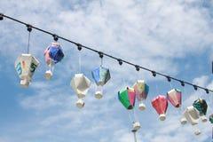 Lantaarns in de hemel royalty-vrije stock afbeeldingen