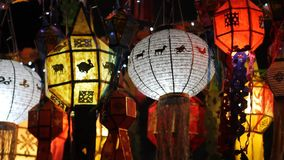 Lantaarns in festival, ChiangMai Thailand stock footage