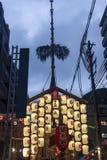 Lantaarns in Gion Festival in Kyoto Royalty-vrije Stock Fotografie