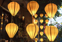 Lantaarns in Oude Straat Hoi An, Vietnam stock afbeeldingen