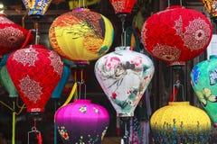 Lantaarns in Oude Straat Hoi An, Vietnam royalty-vrije stock afbeelding