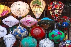 Lantaarns in Oude Straat Hoi An, Vietnam stock afbeelding