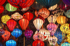 Lantaarns in Oude Straat Hoi An, Vietnam royalty-vrije stock foto