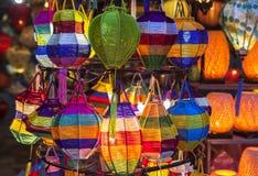 Lantaarns in Oude Straat Hoi An, Vietnam stock foto