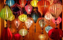 Lantaarns in Oude Straat Hoi An, Vietnam royalty-vrije stock foto's