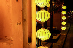 Lantaarns in Oude Straat Hoi An, Vietnam stock fotografie