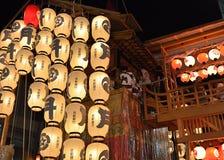Lantaarns van Gion-festival, Kyoto Japan in Juli Royalty-vrije Stock Foto's