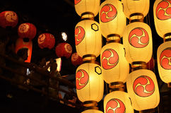 Lantaarns van Gion-festival, Kyoto Japan in Juli stock foto's