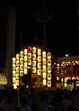 Lantaarns van Gion-festival, Kyoto Japan in Juli Stock Afbeelding
