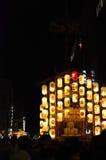 Lantaarns van Gion-festivalnacht, Kyoto in de zomer Royalty-vrije Stock Afbeeldingen