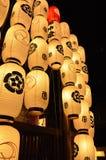 Lantaarns van Gion-festivalnacht, Kyoto in de zomer Stock Fotografie