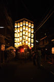 Lantaarns van Gion-festivalnacht, Kyoto in de zomer Royalty-vrije Stock Afbeelding