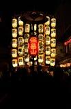 Lantaarns van Gion-festivalparade in de zomer, Kyoto Japan Royalty-vrije Stock Foto's
