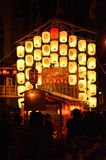 Lantaarns van Gion-festivalparade in de zomer, Kyoto Japan Royalty-vrije Stock Afbeeldingen
